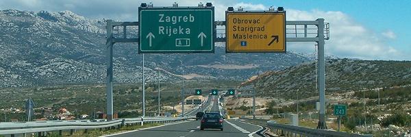Dálnice A1 u Zadaru